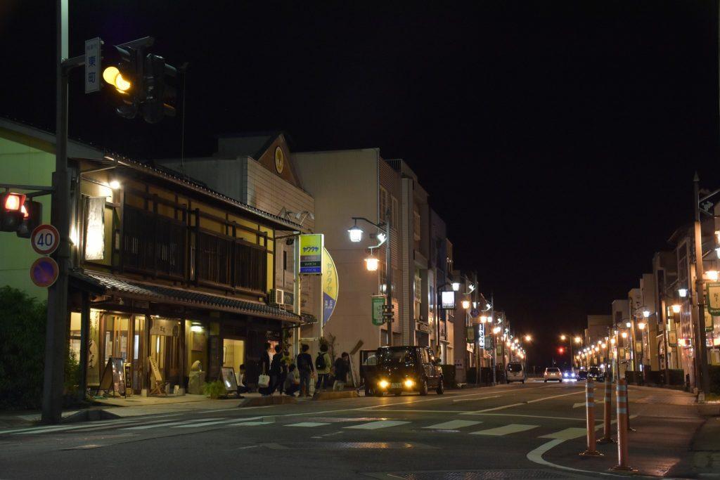 南砺市福光の夜