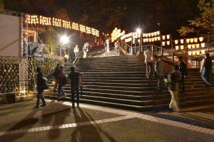 湯涌ぼんぼり祭り扇階段